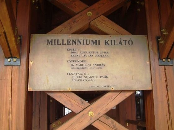 Millenniumi Kilátó, Szilvásvárad